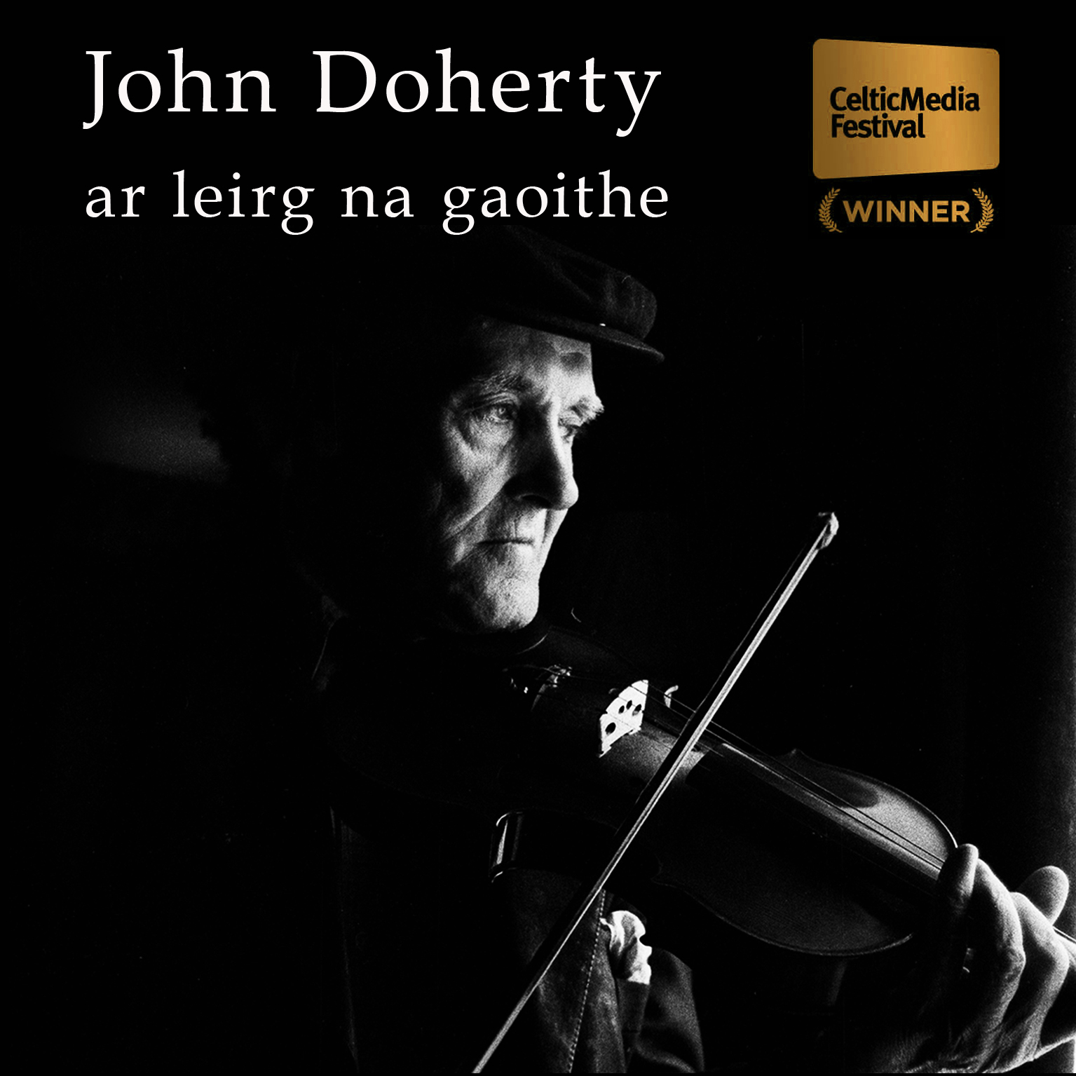 Picture of John Doherty playing the fiddle