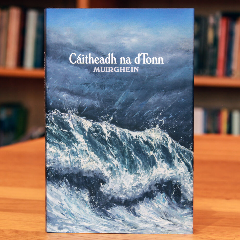 Cover Cáitheadh an dTonn showing high sea waves
